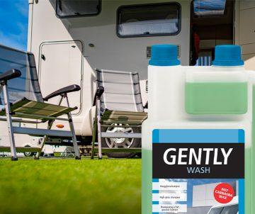 Snelle wasbeurt voor uw caravan met Gently Wash